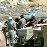Miners at Potosi silver mines in Bolivia