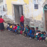 Children outside their village school  - Ecuador.